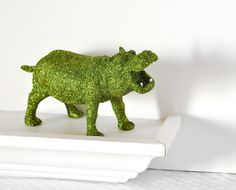 Safari Boy Nursery Decoration Hippopotamus in Jungle by wishdaisy, $30.00