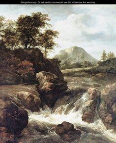 A Waterfall - Jacob Van Ruisdael