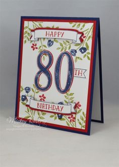 Number Of Years Moms 80th Birthday Card Cards Homemade