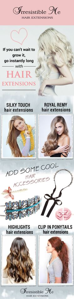 Irresistible Me is all about hair: clip in hair extensions, hair tools, hair accessories and wigs. Click to see more! Free returns and exchanges #IrresistibleMe