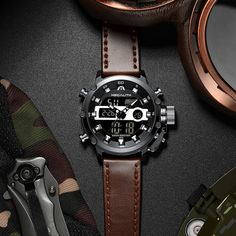 Mens Fashion Sports Quartz Watches Mens Sport Watches, Watches For Men, Men's Watches, Waterproof Sports Watch, Digital Wrist Watch, Watches Photography, Best Gifts, Mens Fashion, Quartz Watches