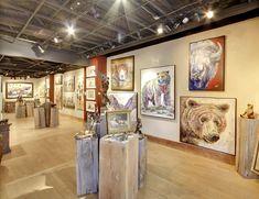 Park City Fine Art & Prospect Gallery • Park City, UT Park City, American Art, Galleries, Original Paintings, Art Gallery, Fine Art, Interior, Projects, Log Projects