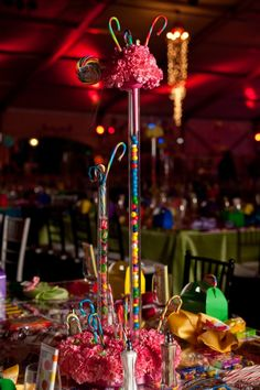 Candy Themed centerpieces