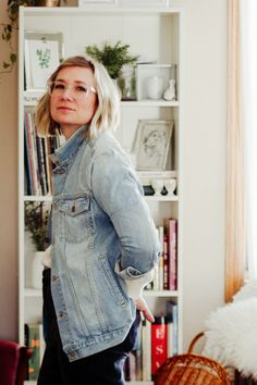 Spring 10x10 Check In   Tradland Denim Jacket Review    #10x10challenge #tradlanddenimjacket #tradlandreview Slow Fashion, Fashion News, Fashion Outfits, Ethical Clothing, Ethical Fashion, Cold Weather Fashion, Sustainable Fashion, Everyday Fashion, Personal Style