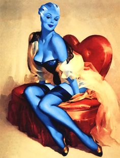 I love Asari pin up. Someone needs to make Twi'lek pin ups next.