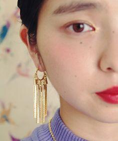 VTOPIA(ユートピア)のChain tail earrings(ピアス(両耳用))|ゴールド