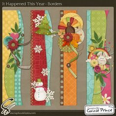 It Happened This Year - Border Clusters :: Page Edges :: Embellishments :: SCRAPBOOK-BYTES