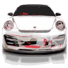 Porsche 911 vector line