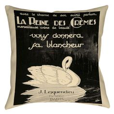 Thumbprintz Swan Cremes Indoor/Outdoor Throw Pillow