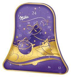 Milka Exklusiver Adventskalender in Glockenform, 309 g, 1er Pack (1 x 309 g)