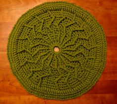 Hemingway Pattern  Accent crochet pet rug by TheWellReadCat, $60.00
