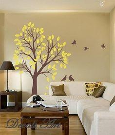 Sweet Tree - Vinyl wall sticker- wall decal- tree decals- wall murals art - nursery wall decals- Tree -Nature. $65.00, via Etsy.