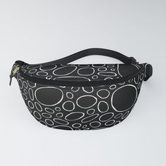 Organic - Black and White Fanny Pack by laec | Society6