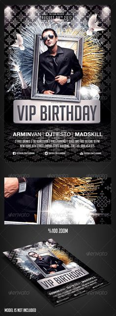 Buy VIP Birthday Party flyer by on GraphicRiver. Please dont forget to Rate Premium VIP birthday party. easily place the birthday girl/guy in the Silver frame, to a. Birthday Flyer, Girl Birthday, Birthday Parties, Engagement Frames, Anniversary Banner, Music Flyer, Flyer Free, Club Parties, Business Flyer Templates