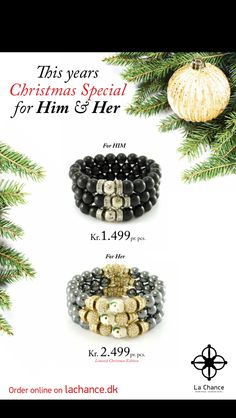 Christmas offer for Him and Her  www.lachance.dk/kampagne