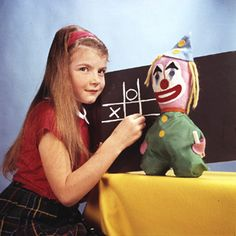 That is the little girl in the TV pattern test card.