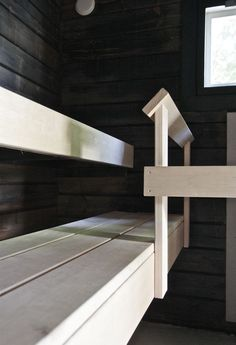 Minna Jones: Before - after sauna -------- Ennen - jälkeen sauna Outdoor Sauna, Sauna Design, Finnish Sauna, Saunas, Ikea, Stairs, Sauna Ideas, Architecture, Wood