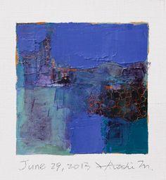 June 29 2013  Original Abstract Oil Painting  by hiroshimatsumoto, $60.00
