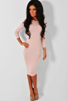 06b8abefdc Slinky Strappy Asymmetric Bodycon Dress Blush - Dresses - Bodycon Stunning  Dresses