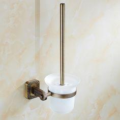 Stainless Steel toilet brush holders rack vintage, European style bathroom toilet brush holders set, Retro toilet bowl brushed