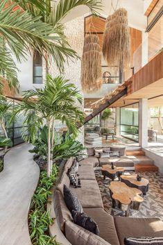 Dream Home Design, My Dream Home, Home Interior Design, Interior And Exterior, Houses Architecture, Tropical Architecture, Interior Architecture, Tropical House Design, Tropical Houses