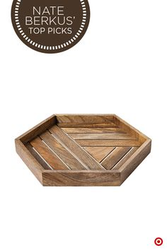 Serve your guests in style with the Nate Berkus Metal Inlay Tray. Featuring a sleek combination of wood and stainless steel, this hexagon-shaped tray boasts smooth, intersecting lines that truly make a statement. Hexagon House, Hexagon Shape, Furniture Design, Plywood Furniture, Chair Design, Design Design, Modern Furniture, Target Decor, Diy Shops