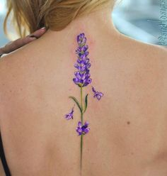 Awesome Lavender Tattoo