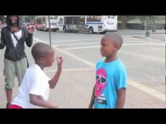 Young boys in Harlem NYC dance battle