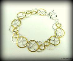 Two Tone Celtic Knot Bracelet by byBrendaElaine on Etsy, $16.00