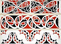 Williams, Herbert William :Designs of ornamentation on Maori rafters. Mehndi, Henna, Maori Designs, Maori Art, Thai Tattoo, Maori Tattoos, Tribal Tattoos, Maori Legends, Samoan Tribal