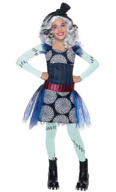 Monster High Freak du Chic Frankie Stein Costume - Command the Freak du Chic dance as a magical magician in the officially licensed Monster High Freak du Chic Frankie Stein Costume! Halloween Chique, Halloween Elegante, Funny Kid Halloween Costumes, Halloween Kids, Princess Costumes, Girl Costumes, Costume Ideas, Trajes Monster High, Fantasia Monster High