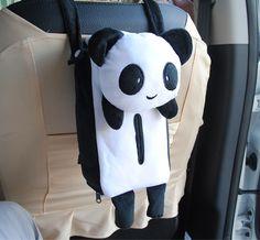 Vehicle Tissue Cases Cute Animal Shape Panda Car Hanging Tissue Cover Auto Tissue Box Car Accessories Home Decoration