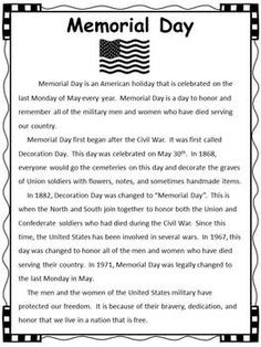 memorial day activities printable