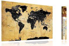 EINZIGARTIGES DESIGN - Das einzigartig entworfene Design unserer Karte finden Sie nur bei uns! Die Rubbelweltkarte von FlyHigh ist in einem wunderschönen und unverwechselbaren Vintage-Look gehalten! Zeitlos und passend in jedem Zimmer! Die Rubbel-Weltkarte ist in einer Größe von 82,5x58,5cm gehalten und somit ist sie wirklich XXL!  Klick auf den Link :) Vintage World Maps, World Map Poster, Unique, Viajes, Cards, Nice Asses
