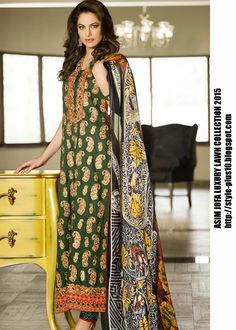 AJL-14A From Asim Jofa Luxury Lawn Collection 2015