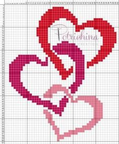 Cross Stitch Heart, Cross Stitch Borders, Cross Stitch Flowers, Cross Stitch Designs, Cross Stitching, Cross Stitch Patterns, Loom Patterns, Embroidery Hearts, Cross Stitch Embroidery