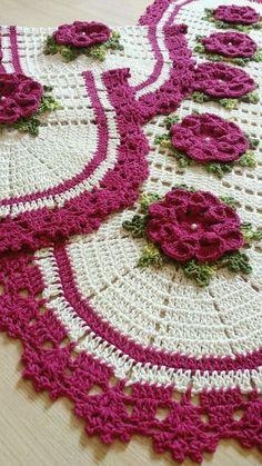 Crochet Flower Tutorial, Diy Crochet, Crochet Doilies, Crochet Flowers, Crochet Top, Crochet Diagram, Crochet Patterns, Crochet Decoration, Crochet Projects