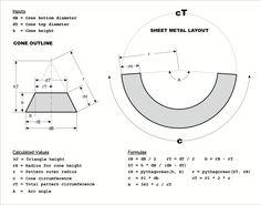 Tronc Cone Droit Developpe Geometrie Descriptive