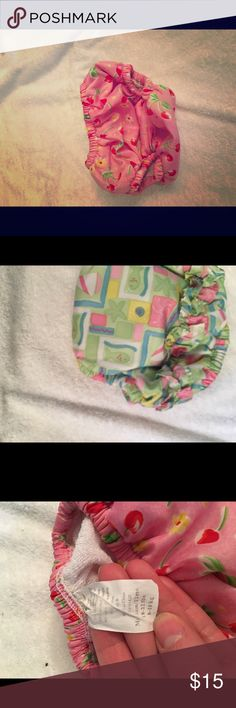 Three swim diapers Three iplay swim diapers. White one 18-22 pounds, pink 18-22 pounds and the other 13-18 pounds. All three in great shape. Two are the absorbent type and one just lined. iplay Other