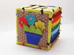 Developing toy/ educational book/ fabric activity toy/ fabric activity book/ Eco friendly book/ personalized blocks/ made to order/ quiet cube/