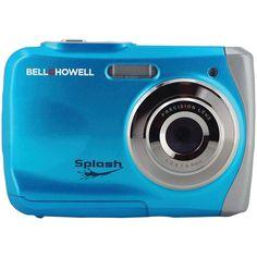 BELL+HOWELL WP7-BL 12.0-Megapixel WP7 Splash Waterproof Digital Camera (Blue)
