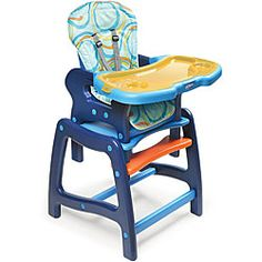 Badger Basket Envee Baby High Chair/ Play Table in Blue | Overstock™ Shopping - Great Deals on Badger Basket High Chairs