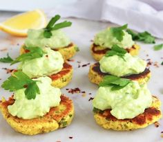 Tasty, bite-sized vegan savoury pancakes made with the goodness of organic turmeric, featuring new Golden Quench Turmeric Coconut Milk! These gluten-free pancakes are filled with flavour, nutrition and are topped with a simple yet delicious avocado cream. Savory Pancakes, Savory Snacks, Healthy Snacks, Vegan Pancakes, Organic Recipes, Ethnic Recipes, Avocado Cream, Dairy Free, Gluten Free
