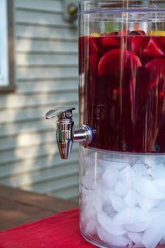 EASY Star Spangled Sangria ~ alcohol-free recipe ... #outdoor entertaining