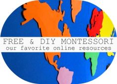 Montessori stuff and printables...have to check this one out to see if there is anything useful