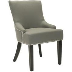 @Overstock - Loire Chairs (Set of 2) will work well with a wide range of dining and accent chair styles. Chairs features a solid beech wood frame and legs.http://www.overstock.com/Home-Garden/Loire-Grey-Linen-Nailhead-Dining-Chairs-Set-of-2/6531682/product.html?CID=214117 $294.99