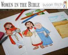 Women in the Bible Clip Art collection by SusanFitchDesign on Etsy