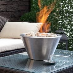 Anywhere Fireplace Oasis Table Top Indoor / Outdoor Fireplace - Fire Pots at Fire Pits