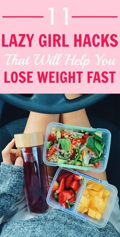 11 Lazy Girl Hacks That Will Help You Lose Weight Fast. Looking for an easy way to shed some pounds with little to no exercise? #weightlossinspiration #weightlosshacks #weightlosstransformation #weightlosstricks #healthandfitness