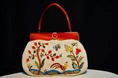 Hey, I found this really awesome Etsy listing at https://www.etsy.com/listing/193472334/embroidered-bag-bakelite-purse-vintage